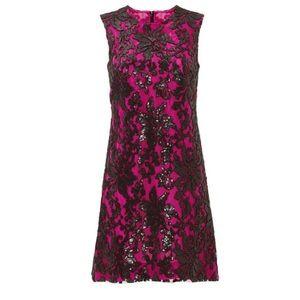 DVF Pink Kaleb Sequin Shift Dress